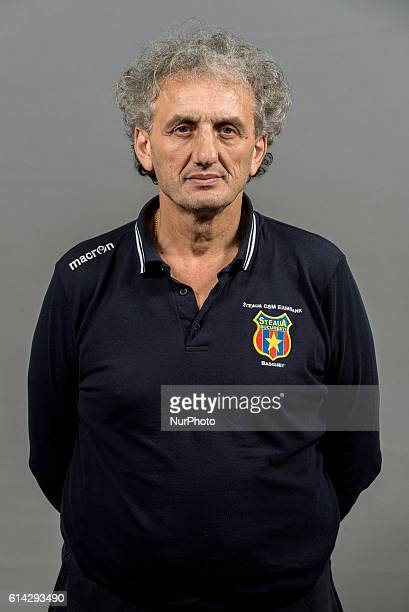 Milorad Perovic the asistant coach of Steaua CSM EximBank Bucharest during the oficial photo session of Steaua CSM EximBank Bucharest before the...