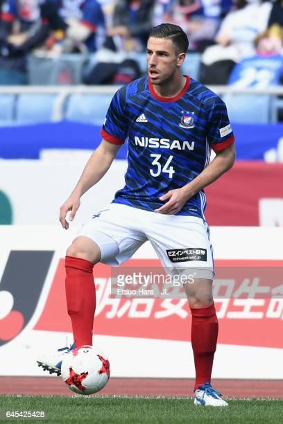 Milos Degenek of Yokohama FMarinos in action during the JLeague J1 match between Yokohama FMarinos and Urawa Red Diamonds at Nissan Stadium on...