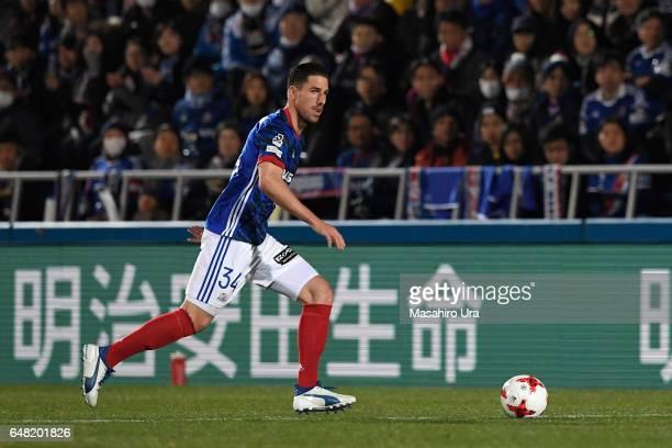 Milos Degenek of Yokohama FMarinos in action during the JLeague J1 match between Yokohama FMarinos and Consadole Sapporo at Nippatsu Mitsuzawa...