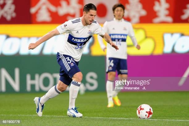 Milos Degenek of Yokohama FMarinos in action during the JLeague J1 match between Kashima Antlers and Yokohama FMarinos at Kashima Soccer Stadium on...