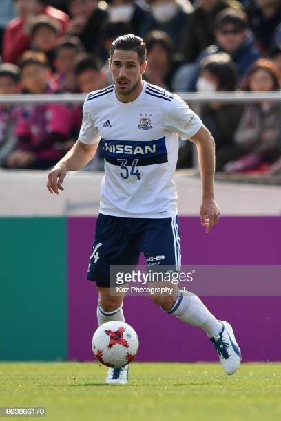 Milos Degenek of Yokohama FMarinos in action during the JLeague J1 match between Cerezo Osaka and Yokohama FMarinos at Kincho Stadium on April 1 2017...