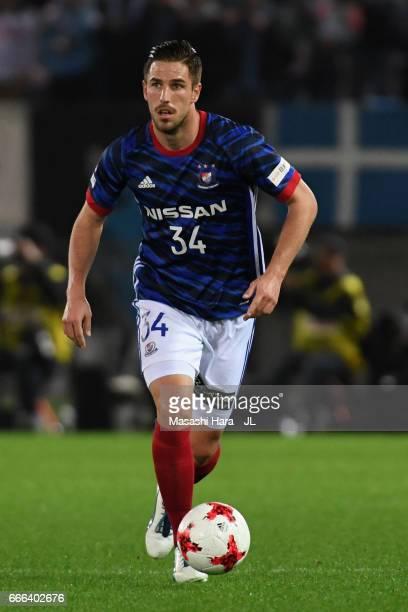 Milos Degenek of Yokohama FMarinos in action during the JLeague J1 match between Yokohama FMarinos and Jubilo Iwata at Nissan Stadium on April 8 2017...
