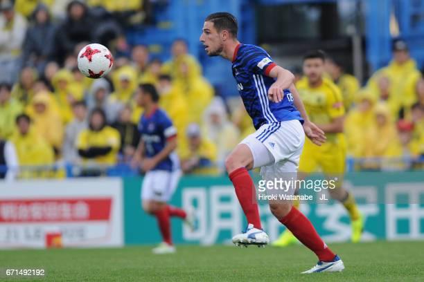 Milos Degenek of Yokohama FMarinos in action during the JLeague J1 match between Kashiwa Reysol and Yokohama FMarinos at Hitachi Kashiwa Soccer...