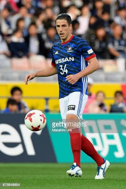 Milos Degenek of Yokohama FMarinos in action during the JLeague J1 match between Yokohama FMarinos and Gamba Osaka at Nissan Stadium on April 30 2017...