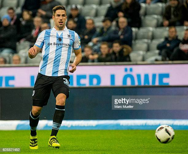 Milos Degenek with ball during the Bundesliga match between TSV 1860 Muenchen and 1 FC Kaiserslautern at Allianz Arena on November 21 2016 in Munich...