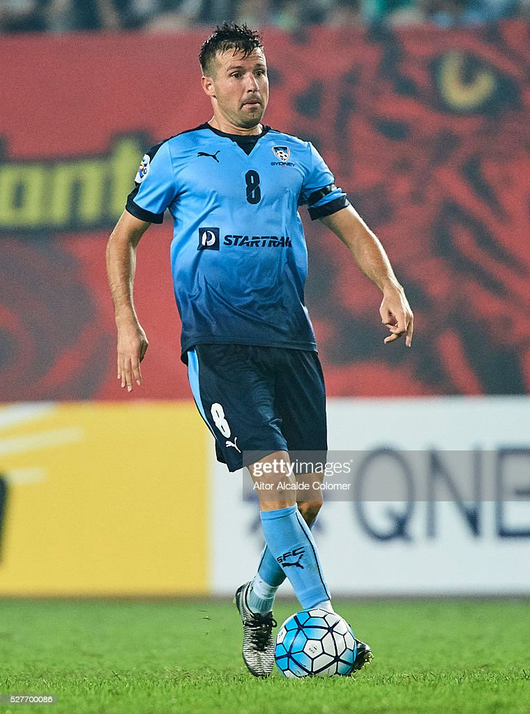Milos Dimitrijevic of Sydney FC in action during the AFC Asian Champions League match between Guangzhou Evergrande FC and Sydney FC at Tianhe Stadium on May 3, 2016 in Guangzhou, China.