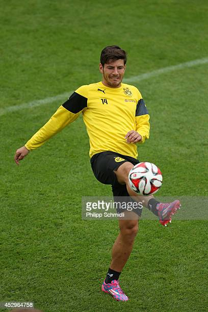 Milos Jojic during a training session in the Borussia Dortmund training camp on July 31 2014 in Bad Ragaz Switzerland