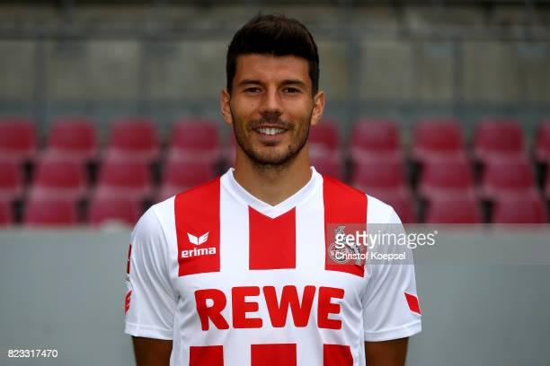 Milos Jojic of 1 FC Koeln poses during the team presentation at RheinEnergie Stadion on July 24 2017 in Cologne Germany
