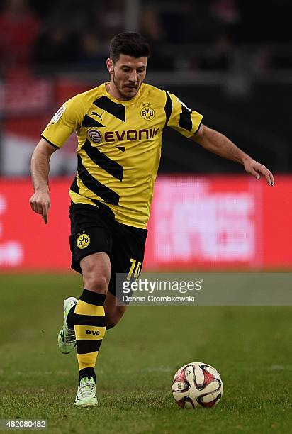 Milos Jojic of Borussia Dortmund controls the ball during the friendly match between Fortuna Duesseldorf and Borussia Dortmund at EspritArena on...