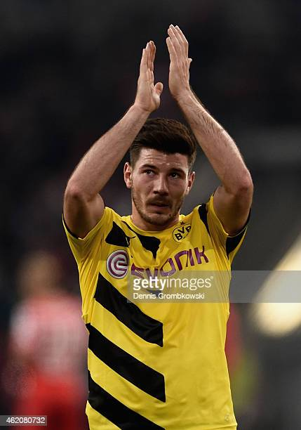 Milos Jojic of Borussia Dortmund reacts after the friendly match between Fortuna Duesseldorf and Borussia Dortmund at EspritArena on January 24 2015...