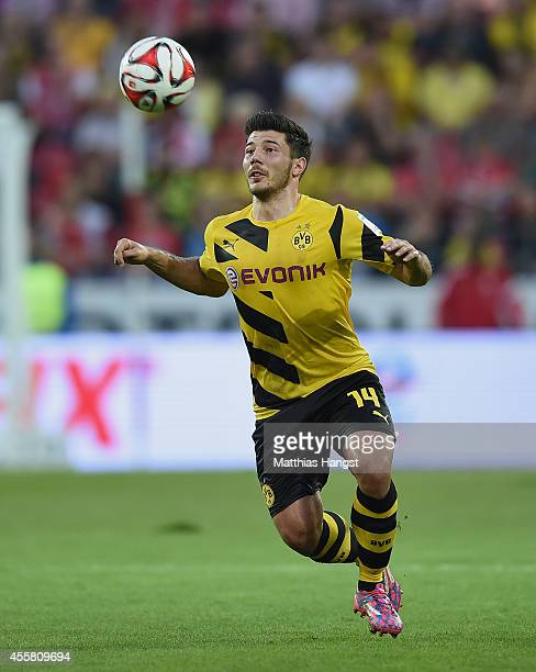 Milos Jojic of Dortmund controls the ball during the Bundesliga match between 1 FSV Mainz 05 and Borussia Dortmund at Coface Arena on September 20...
