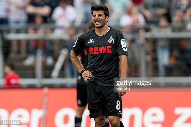 Milos Jojic of FC Koeln reacts during the preseason friendly match between Fortuna Koeln and 1 FC Koeln at Sued Stadion on July 26 2016 in Cologne...