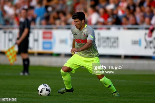 Milos Jojic of Kln runs with the ball during the preseason friendly match between TSV Steinbach and 1 FC Koeln at SibreSportzentrum Haarwasen on...
