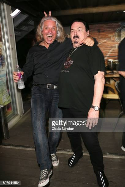 Milos Malesevic husband of Karin Thaler and Bobby Kimball attend the Man Doki Soulmates concert during tthe Sziget Festival at Budapest Park on...