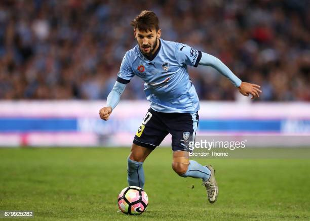 Milos Ninkovic of Sydney controls the ball during the 2017 ALeague Grand Final match between Sydney FC and the Melbourne Victory at Allianz Stadium...