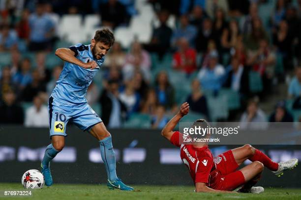 Milos Ninkovic of Sydney controls the ball during the FFA Cup Final match between Sydney FC and Adelaide United at Allianz Stadium on November 21...