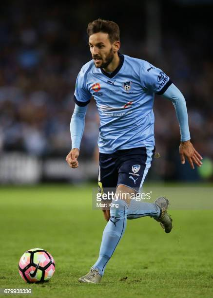 Milos Ninkovic of Sydney FC controls the ball during the 2017 ALeague Grand Final match between Sydney FC and the Melbourne Victory at Allianz...