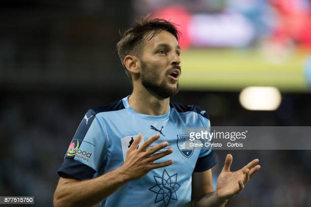 Milos Ninkovic of Sydney FC during the FFA Cup Final match between Sydney FC and Adelaide United at Allianz Stadium on November 21 2017 in Sydney...