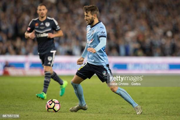 Milos Ninkovic of Sydney FC in action during the 2017 ALeague Grand Final match between Sydney FC and the Melbourne Victory at Allianz Stadium on May...