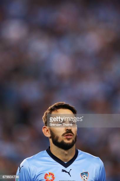 Milos Ninkovic of Sydney looks on during the 2017 ALeague Grand Final match between Sydney FC and the Melbourne Victory at Allianz Stadium on May 7...