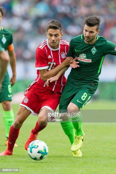 Milos Pantovic of Bayern Muenchen und Jerome Gondorf of Bremen battle for the ball during the Telekom Cup 2017 Final between SV Werder Bremen and FC...