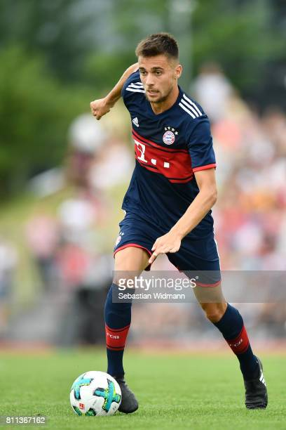 Milos Pantovic of FC Bayern Muenchen plays the ball during the preseason friendly match between FSV ErlangenBruck and Bayern Muenchen at Adi Dassler...