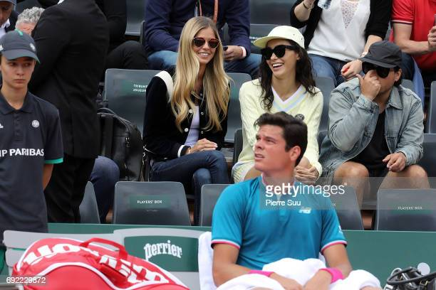 Milos Raonic fiancee model Danielle Knudson is spotted at Roland Garros on June 4 2017 in Paris France