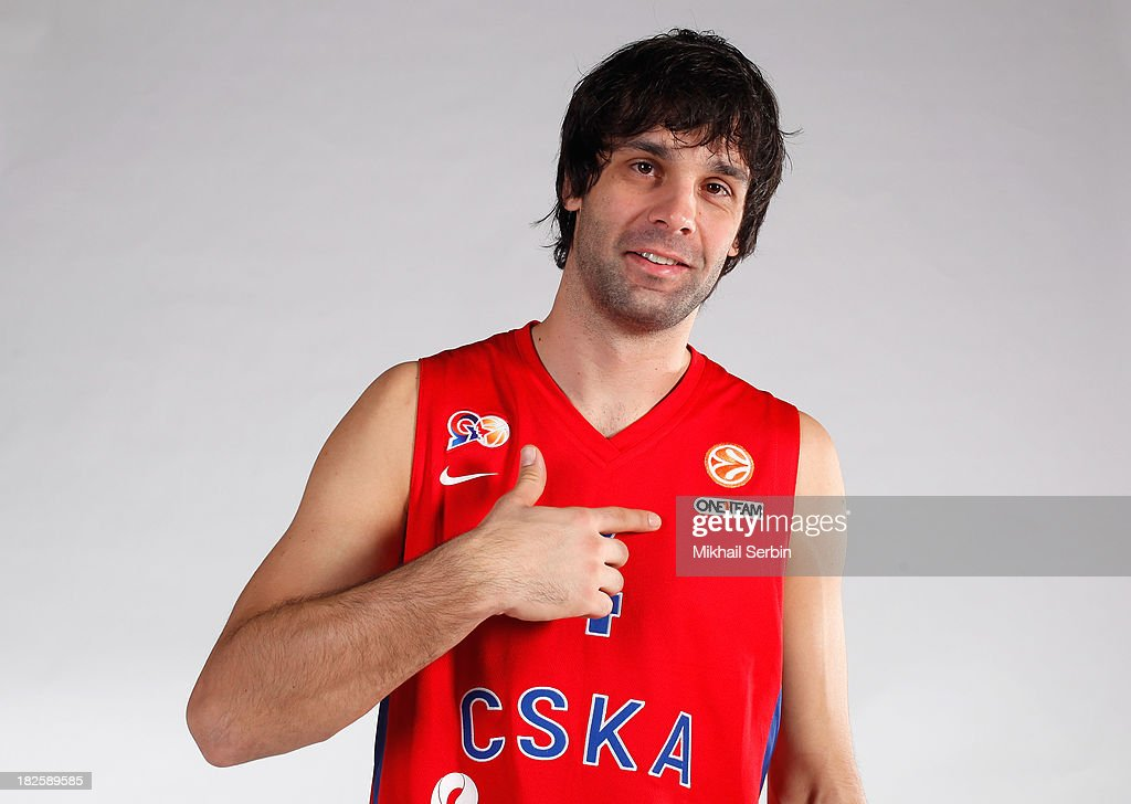 <a gi-track='captionPersonalityLinkClicked' href=/galleries/search?phrase=Milos+Teodosic&family=editorial&specificpeople=4453210 ng-click='$event.stopPropagation()'>Milos Teodosic</a>, #4 during the CSKA Moscow 2013/14 Turkish Airlines Euroleague Basketball Media day at Universal Sports Hall CSKA on October 1, 2013 in Moscow, Russia.