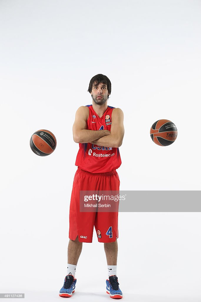 <a gi-track='captionPersonalityLinkClicked' href=/galleries/search?phrase=Milos+Teodosic&family=editorial&specificpeople=4453210 ng-click='$event.stopPropagation()'>Milos Teodosic</a>, #4 of CSKA Moscow during the 2015/2016 Turkish Airlines Euroleague Basketball Media Day at Universal Sports Hall CSKA on October 1, 2015 in Moscow, Russia.
