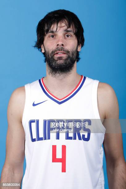 Milos Teodosic of the Los Angeles Clippers poses for a portrait during 2017 Media Day on September 25 2017 at the Los Angeles Clippers Practice...