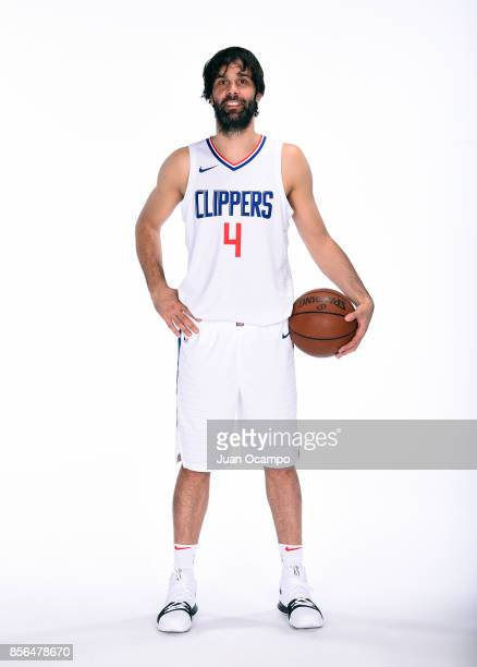 Milos Teodosic of the Los Angeles Clippers poses for a portrait during the 201718 NBA Media Day at the Los Angeles Clippers Training Center on...