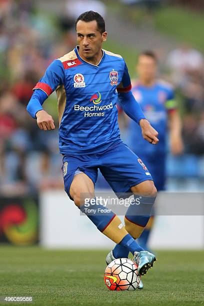 Milos Trifunovic of the Jets in action during the round five ALeague match between the Newcastle Jets and the Western Sydney Wanderers at Hunter...