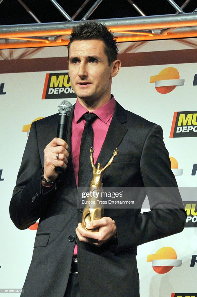 Miloslav Klose attends the Sport Annual Gala In Barcelona at palau de Congresos on February 11, 2013 in Barcelona, Spain.