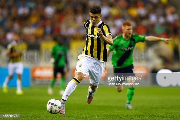 Milot Rashica of Vitesse in action during the UEFA Europa League third qualifying Round 2nd Leg match between Vitesse Arnhem and Southampton FC held...
