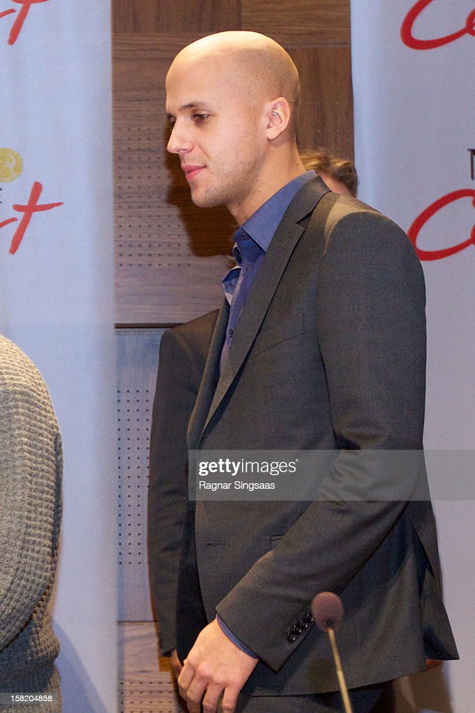 Milow attends a press conference ahead of the Nobel Peace Prize Concert at Radisson Blu Plaza Hotel on December 11, 2012 in Oslo, Norway.