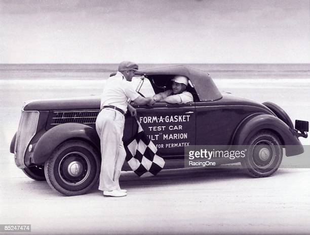 Milt Marion was one of the first stock car racers to have sponsorship Mechanic on his '36 Ford was none other than Bill France who also competed in...