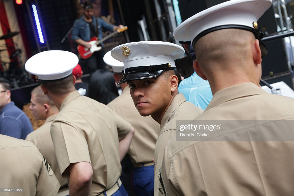 Miltary personnel are seen during the 'FOX & Friends' All American Concert Series outside of FOX Studios on May 27, 2016 in New York City.