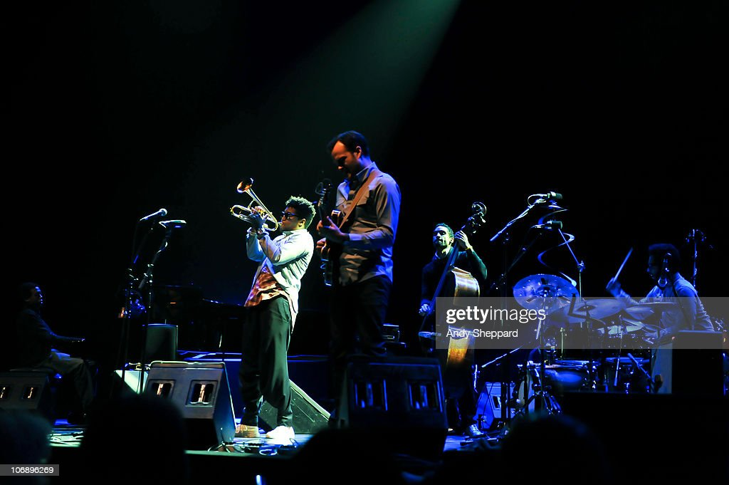 Milton Fletcher, Christian Scott, Matt Stevens, Kris Funn and Jamire Williams perform on stage at Royal Festival Hall during the fourth day of London Jazz Festival 2010 on November 15, 2010 in London, England.