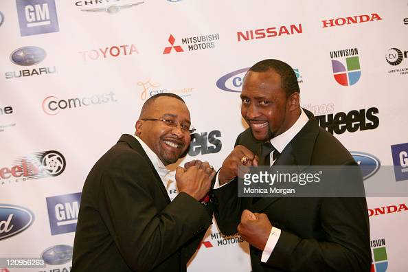 Milton McCory and Tommy Hearns during 11th Urban Wheel Awards at Max Fisher Theater in Detroit Michigan United States