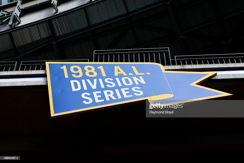 Milwaukee Brewers 1981 AL Division Series marker inside Miller Park home of the Milwaukee Brewers baseball team on September 13 2015 in Milwaukee...