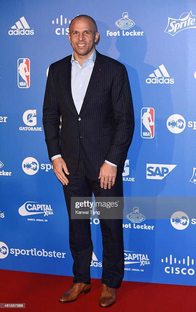 Milwaukee Bucks Head Coach <a gi-track='captionPersonalityLinkClicked' href=/galleries/search?phrase=Jason+Kidd&family=editorial&specificpeople=201560 ng-click='$event.stopPropagation()'>Jason Kidd</a> attends the NBA Global Games London 2015 Tip Off Party at Millbank Tower on January 14, 2015 in London, England.