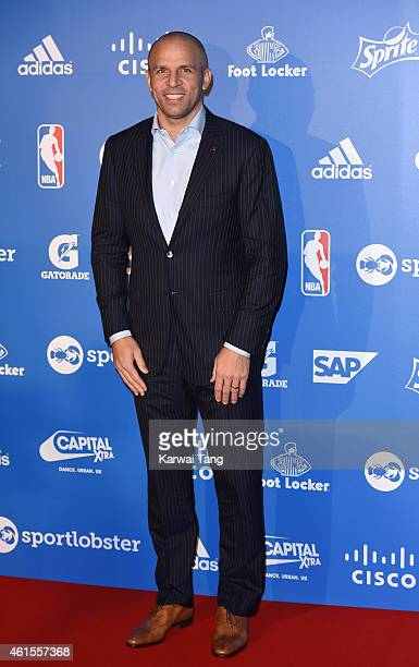 Milwaukee Bucks Head Coach Jason Kidd attends the NBA Global Games London 2015 Tip Off Party at Millbank Tower on January 14 2015 in London England