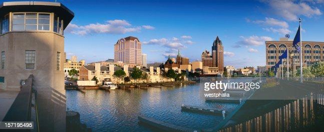 Milwaukee Skyline with River