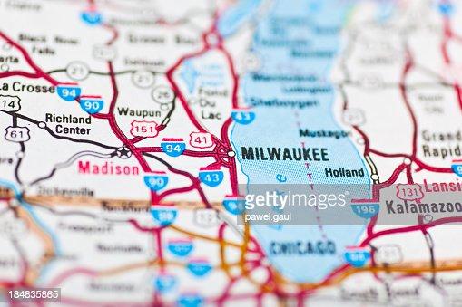 Milwaukee, WI map