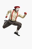 Mime in a running pose