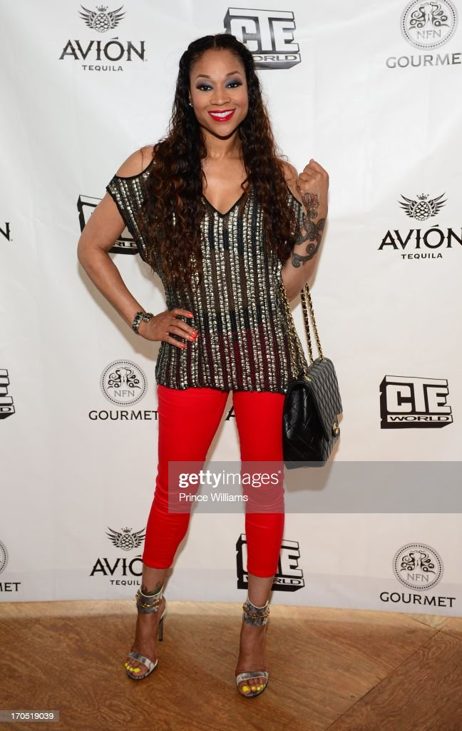 Mimi Faust attends the Young Jeezy and Gourmet Footwear branding partnership launch at Wish Shoe Store on June 13, 2013 in Atlanta, Georgia.