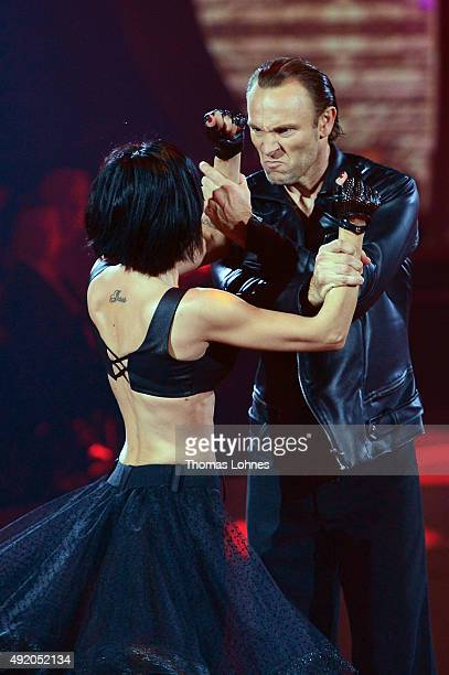 Mimi Fiedler and Bernhard Bettermann performe with a 'paso doble' dance during the fith show of the television competition 'Stepping Out' on October...