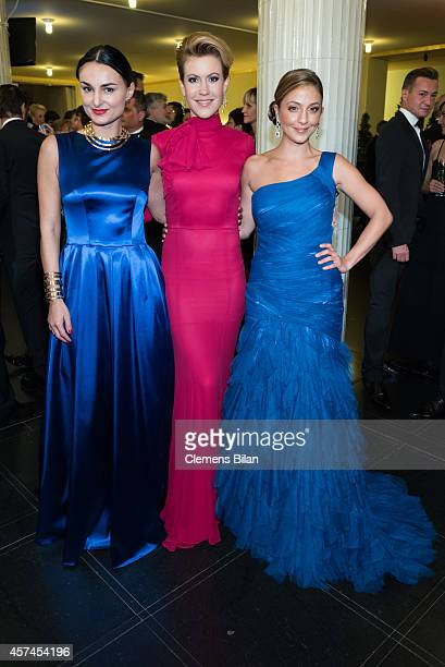 Mimi Fiedler Wolke Hegenbarth Arzu Bazman attend the Opera Ball Leipzig at Opernhaus on October 18 2014 in Leipzig Germany