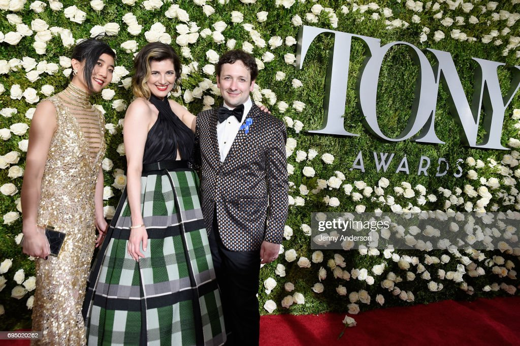 Mimi Lien, Paloma Young and Bradley King attend the 2017 Tony Awards at Radio City Music Hall on June 11, 2017 in New York City.