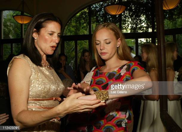 Mimi Rogers and Bijou Phillips during 'The Door in the Floor' Premiere Cocktail Reception at Restaurant NU in Santa Barbara California United States